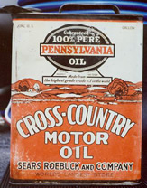 1930's 1 Gallon Early Motor Oil Gallon Can